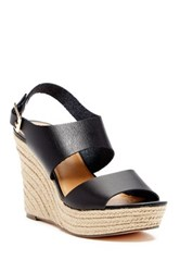 J.Crew Slingback Wedge Black