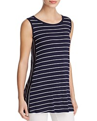 Kim And Cami Striped Tunic Tank Navy Off White Combo