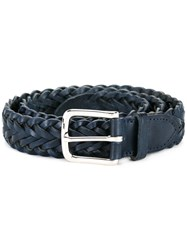 Whitehouse Cox Braided Belt Blue