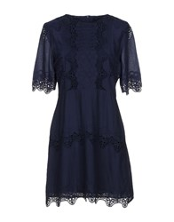 Walter Baker Short Dresses Dark Blue