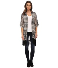 Steve Madden Coastal Chevron Kimono Neutral Women's Clothing