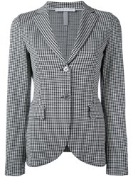 Harris Wharf London Houndstooth Pattern Blazer Women Cotton 46 Black