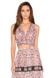 Alice Olivia Chia Crop Top Red