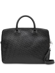 Burberry Monogram Leather Briefcase Black