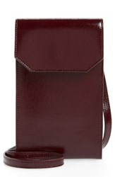 Nordstrom Leather Phone Crossbody Bag Burgundy Burgundy Royale