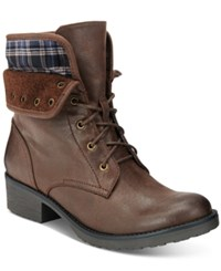Bare Traps Olympia Lace Up Booties Women's Shoes Dark Brown