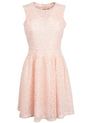 Wolf And Whistle Pink Chorded Lace Prom Dress