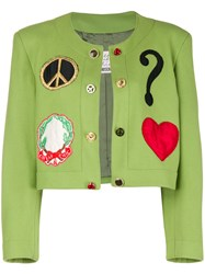 Moschino Vintage Spencer Cropped Jacket Green