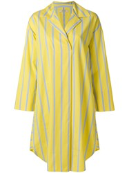 Odeeh Striped Poplin Dress Yellow And Orange