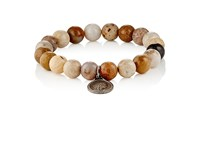 Miracle Icons Men's Beaded Charm Bracelet Cream
