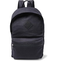 A.P.C. Sadie Leather Trimmed Canvas Backpack Navy