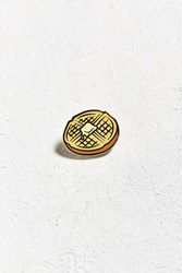 Urban Outfitters Uo Waffle Pin Yellow