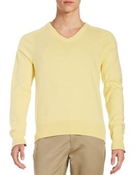 Brooks Brothers V Neck Sweater Yellow