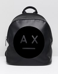 Armani Exchange Ax Face Logo Backpack Black