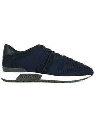 Tod's Perforated Decoration Sneakers Blue