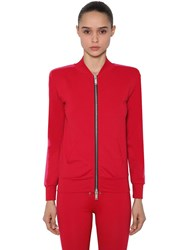 Unravel Tech Viscose Track Jacket W Band Fuchsia Red