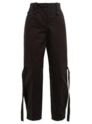 Givenchy Flamme Strap Cotton Cargo Trousers Black