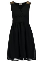 Vero Moda Vmalma Princess Cocktail Dress Party Dress Black Gold
