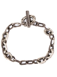 Henson Distressed Chain Bracelet Metallic