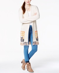 Roxy Juniors' 'Near Future' Fringe Long Cardigan