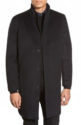 Vince Camuto Laminated Topcoat Black