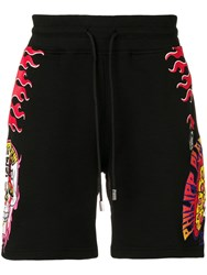 Philipp Plein Pizza Boys Shorts Black