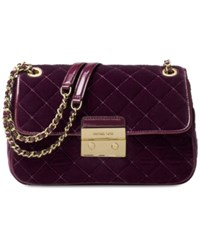 Michael Kors Sloan Large Chain Shoulder Bag Plum