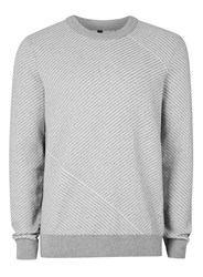 Topman Light Grey And White Jumper