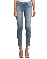 Hudson Nico Mid Rise Super Skinny Leg Ankle Jeans Light Blue