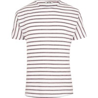 River Island Mensred Only And Sons Stripe Short Sleeve T Shirt