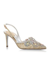 Rene Caovilla Lady Slingback Pumps 75 Female Gold