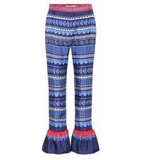 Mary Katrantzou Peyote Printed Silk Trousers Multicoloured