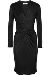 Lanvin Twist Front Jersey Dress Black