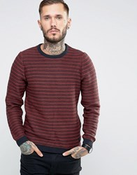 Only And Sons Reverse Knit Jumper Burgundy Red