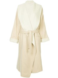 Nehera Cabov Belted Coat Nude And Neutrals