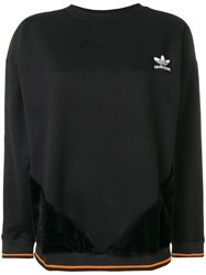Adidas Small Embroidered Logo Sweatshirt Black