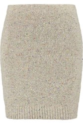 Rebecca Minkoff Luc Merino Wool Blend Mini Skirt Cream