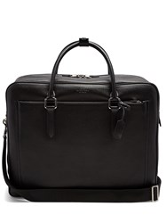Smythson Burlington Leather Holdall Black