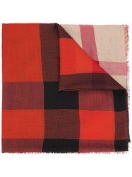 Burberry Signature Print Scarf Red