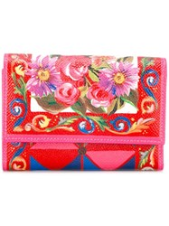 Dolce And Gabbana Small Continental Wallet Pink Purple
