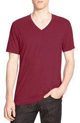 James Perse Men's Short Sleeve V Neck T Shirt Heat