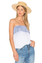 Nytt Ruffle Tube Top Blue
