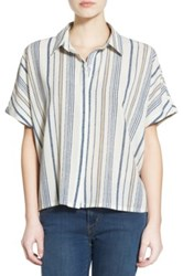 Bp Stripe Oversize Shirt Beige