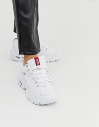 Skechers Energy Trainers In White Multi