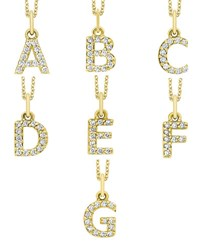 Kc Designs 14K Yellow Gold Diamond Initial And Chain White