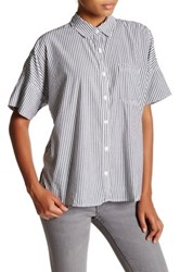 Abound Short Sleeve Boxy Woven Shirt Multi