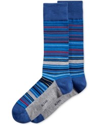 Alfani Men's Variegated Stripe Socks Only At Macy's Storm Blue