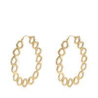 Isharya Goddess Link Hoop Earrings