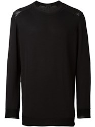 Ann Demeulemeester Crew Neck Sweater Black
