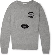 Dries Van Noten Jenci Cashmere And Wool Blend Sweater Gray
